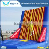 Outdoor inflatable bouncer castle sticky wall,inflatable interactive adult game