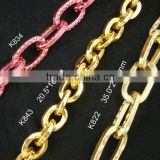 square wire gold color chain for jewelry accessory