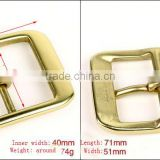 Strong retangle solid brass H shape buckle real leather brass buckle metal brass material buckle