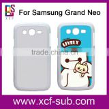 for Samsung Galaxy Grand One 2D Heat Press Mobile Phone Cover for Samsung Grand Neo