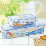 2pcs rectangular waterproof food storage container set with FDA