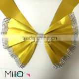 Gold pre tied chair sashes