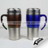 Stainless Steel 16 oz Mug with Handle