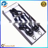 Custom High Quality 2 in 1 Leather Button End Stretchable Suspenders for Men                                                                         Quality Choice