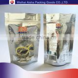 Clear Front Aluminizing Back Retort Food Grade Plastic Ziplock Clear Plastic Zipper bag Stand Up Pouch                                                                         Quality Choice