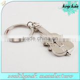 High quality metal guitar shape keychain/guitar keyring/guitar key holder
