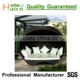 Black color rattan wicker furniture used outdoor furniture