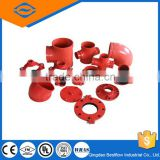 20% discounted Hot Sale Low Price fm ul approved ductile iron grooved pipe fittings with good quality