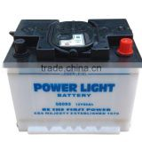 12V Dry charged Best quality Starting Automotive battery DIN60