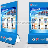 new technology 4 usb outputs custom logo and design 10000mah menu stand power bank for pepsi
