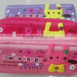 210D cartoon pencil case for children,lovely pencil bag for kids,fabric pencil pouch