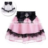Baby Kids Children Girl's Wear Elastic Waist Bow Bead Decoration Short Pleated A-line Cute Sweet Skirt