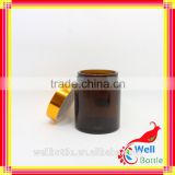 5g 10g 15g 20g 30g 50g 100g amber glass jar with black plastic lid for body scrub jars GJ592R