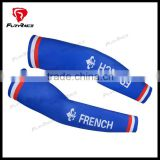 2016 OEM Custom French Flag FR Quick Dry Cycling Cool Arm Warmers Digital Printing Bicycle Bike Compression Arm Sleeves