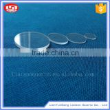 China Quartz Products clear Wholesale galss blocks , polished optical quartz glass round plate