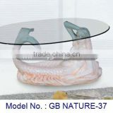 Attractive Appearance Coffee Table With Mermaid Decoration For Home Indoor Living Room Center Uphosterly Exotic Furniture