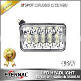 4x6in 45W high power sealed dual beam 4x4 truck trailer vehicles high power driving led headlight headlight replacement