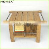 Sturdy Bamboo Shower Bench with Rubber Feet Homex BSCI/Factory