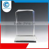 Jingyage over 15 years experience fashional design blank crystal trophy plaque crystal trophy award