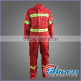 NFPA2112 / NFPA 70 E FR Clothes Industry WOVEN Aramid reflective Flame Resistant safety workwear coverall Workwear Coverall
