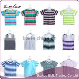 High quality striped short - sleeved kid's T-shirt classic wholesale T-shirt