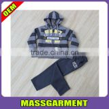 High Quality Custom French Fleece Winter Children Clothing Sets Long Sleeve Hoodies + Long Pants Kids garment manufacturer