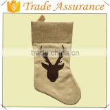 2016 Hot sale Cheap christmas stockings Burlap