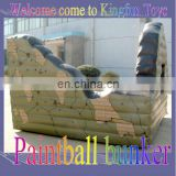 Printing inflatable paintball bunker wall