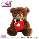 New plush brown bear with bag soft plush toy for baby kids 0516