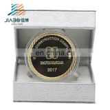 Custom new design 3d building souvenir coin UAE Arabia logos stamping 999 gold plating metal challenge coin with luxurious box