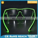 Party decoration stock up for the holidays sound activated blinking in dark EL light LED funny safety glasses