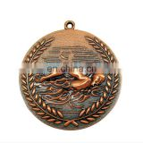 customized logo round shappe high quality antique brass metal soccer medal