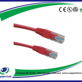 UTP  Cat.5e Patch cord plain molded Red color