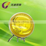 "4"" chrome plated yellow fog lamp"