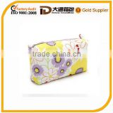 colorful beautiful cosmetic cases with sunflower pattern used for toiletry