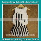 printed baby sleeveless clothing for girl from knitting factory in China whole production