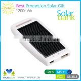 Solar Power Bank Charger 1200mah,Solar Mobile Charger,solar energy power bank 1200mah With Real Capacity