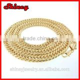 yellow gold plating customize size Cuban Link Curb Hip Hop Chain