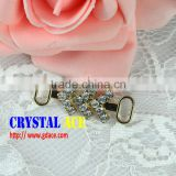 Wholesale Rhinestone Metal Bag Buckle, bikini gold connector, chain strass bikini connector for dicoration