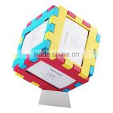 puzzle photo frame family / wedding / sexy photo frame green abs plastic photo frame, cheap 3D plastic photo frame for family                                                                         Quality Choice