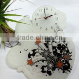 UV Oil 4C Printing Bubble Decorative Acrylic Wall Clock