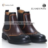 Fashion cool mens chelsea boot genuine leather boots for men
