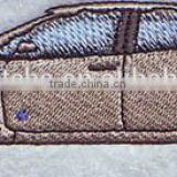 Twill,felt,thread background Material fashional car custom iron on embroidered hockey patches