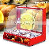 2016 Commercial Hot Food Snack Pie Glass Display Warmer Showcase With CE Certificate                                                                         Quality Choice