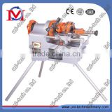 Pipe threading machine in electric pipe threader