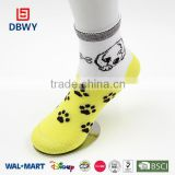 comfortable yellow baby socks and cotton children socks