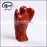 Wholesale Gemstone Red Jasper Hand Carved Angels Figurines