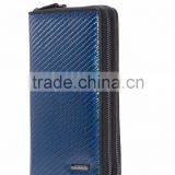 MeyerGlobal Fashion design business men leather carbon fiber travel wallet wholesale MG-CH-0010