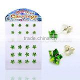 green star earring