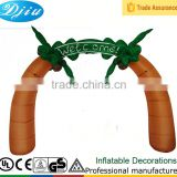 DJ-530 inflatable Welcome arch decor Brown color